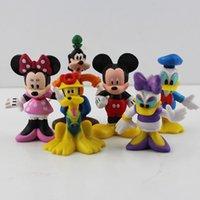 Wholesale 6pcs set MICKEY Minnie Mouse Donald Duck Cartoon figure Set Childre s toy