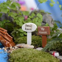 Wholesale Mini Landscape Home Ornaments Decoration Forest Signs DIY Craft Decoration For Fairy Garden Miniatures