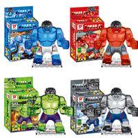 Wholesale NEW Crystal Super Heroes The Avengers Hulk Building Blocks Sets Minifigure DIY Bricks Toys E139
