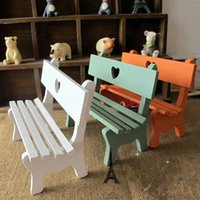 love chair - Zakka Small art Chairs pc Wooden Mini Chair Park Chair Photography Props hollow out Love Chair Home Decor Crafts