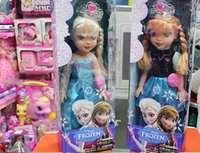 Wholesale 48cm Frozen music doll Frozen princess Elsa Anna baby toy best gift for girls