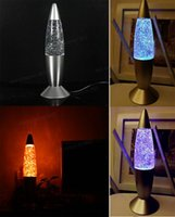 Wholesale USB Light Multi color Changing Rocket Lava Lamp LED Glitter Gift for PC Laptop