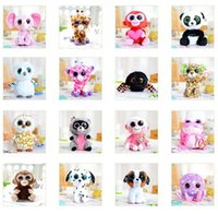 gift for children day - 80pcs Hot Selling The new TY beanie boos inch CM Crystal Big Eyes plush Stuffed Toy Doll For Children Gifts HX