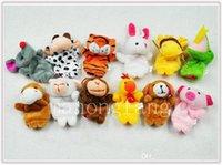 al por mayor marionetas de dedo de la mano del zodiaco-Caliente Dedo Puppets juguetes Puppets Bebé Mano Puppet juguete bebé Dedo muñeca Muñecas de juguete Zodiac animales