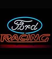 auto glass advertising - Fordd American Auto Fordd Racing Handcraf Neon Sign Nikke Air Jorrdan Neon Sign Advertising Beer Wall Neon Real Glass Tube x20
