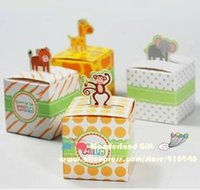 baby shower zoo animal - 20pcs zoo tiger monkey giraffe animal candy boxes kid children girls gift happy birthday party supplies decorations baby shower