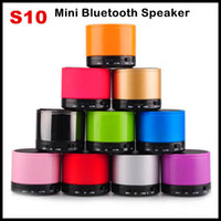 Wholesale S10 Bluetooth Speakers TF Card Mini Wireless Portable HI FI MP3 Music Player Subwoofer Home Audio for iphone S Plus Samsung S3 S4 S5