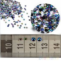 Wholesale Hot Sale D Nail Art Tips gems Crystal Glitter Rhinestone DIY Decoration Wheel NJV