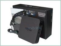 Wholesale Original MXQ TV BOX Amlogic S805 Mini PC Quad Core Android Kitkat K HDMI H GB GB XBMC KODI14 WIFI Airplay Miracast D