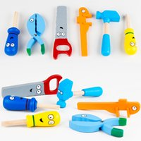 Wholesale Baby Toys Bob Handy Manny Tool Set Garden Tool Toys Educational Wooden Toys Baby Nut Combination Birthday Christmas Gift