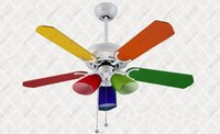 Wholesale Inch modern and fashion ceiling fan light with drawstring control switch for children s room lighting