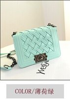 Wholesale 2014 European and American knit chains small sachet wave packet mini messenger bag shoulder bag Quilted handbags small fragrant tide
