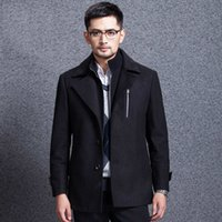 Wholesale Fall Autumn winter New Brand Men Single breasted Wool Overcoat Wool Thickness Men s Winter Fashion Coat Men Warm Fashion Clothing