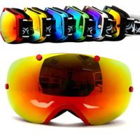 Wholesale Brand professional Skiing Eyewear double lens anti fog big spherical winter Outdoor snow ski glasses motocross snowboard goggles anti parras