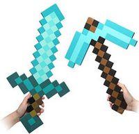 Cheap HOT !!Minecraft Espada,Minecraft Sword & pickaxe Foam toys,minecraft diamond Sword & Pickaxe for kids outdoor game fun & sports