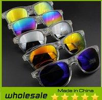 Wholesale 2014 New Women and Men Reflective Mirror Sunglasses Outdoor Sports Wayfarer Beach Fashion Sunglasses
