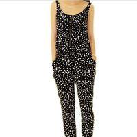 overalls - New Dot Print Bodysuit Jumpsuit Elegant Rompers Womens Jumpsuit Enteritos Mujer Sleeveless Women Overalls Bodycon Jumpsuit Rompers