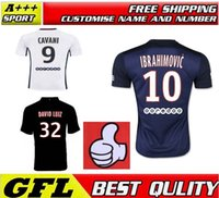Wholesale Paris IBRAHIMOVIC DAVID LUIZ CAVANI T SILVA LUCAS Football Shirts HOME AWAY PSG PASTORE VERRATTI Short sleeve Soccer Jersey