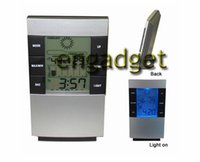 Wholesale All In One Digital LED Digital Day Date Alarm Clock Digital Thermometer and Digital Hygrometer