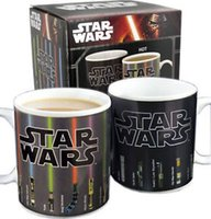 porcelain - Mug Star Wars Coffee Mugs Change Color Heat Lightsaber Heat Reveal Color Change Sensitive Funny Mugs Custom Coffee Mugs