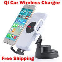 Wholesale Qi Car Holder Wireless Charger Charging Pad for Nokia Lumia LG Nexus IPhone s s Samsung S3 S4 S5 Note2 Note3 Note4