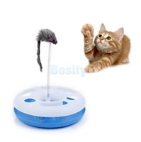 Wholesale Crazy Circle Chase Ball Track Spring Mice Scratch Post Interactive Cat Toy