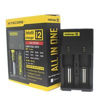 Wholesale Intellicharger Nitecore battery charger Nitecore I2 Charger fit Rechargeable E Cigarettes chargers US UK EU AU FJ011