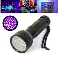 Wholesale Portable LED UV LED Purple Light Black Flashlight Aluminum Shell nm Counterfeit Detected Torch Lighting Lamp for xAA