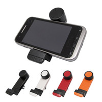 Wholesale 3492 Car phone holder shaped car air conditioning vent universal phone holder black color