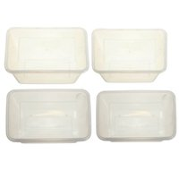 Wholesale Disposable Lunch Boxes Plastic Box Disposable Fast Food Container In Rectangle