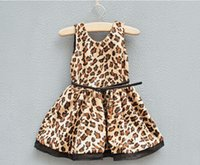 Wholesale Girls Dresses French big brand JACAD super good fabrics thicken leopard dress with belt