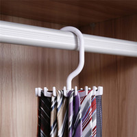 folding clothes rack - Hot Sales Mens Rotating Organizes Ties Rack Adjustable Home Storage Hanger Plastic C418