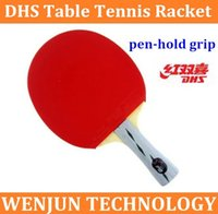 Wholesale Brand new DHS table tennis racket star X3006 pen hold grip double some opinions order lt no track