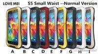 Cheap LOVE MEI Powerful Defender Cover For Galaxy S3 S4 S5 Note 2 3 4 Mega 5.8 Shockproof Waterproof Metal Case Metal Hybrid Hard Skin Heary Duty