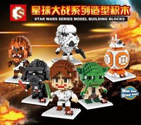 Wholesale DHL Free Star Wars Diamond Building Blocks Toys Yoda BB8 Robot Darth Vader Figures D Brick Education Toys