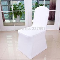 Wholesale White Spandex Chair Cover Wedding Chair Covers for Weddings Party Decorations Banquet Hotel