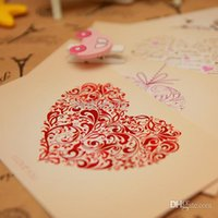 Wholesale 2015 Top Fashion Sale No Single page Type Laverton Gift Of Love Heart shaped Postcards Cards Per Set sets