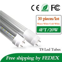 fluorescent bulbs - 30pcs T8 Led Tube Lights ft W mm super Bright Led bulbs Tubes Warm Cool White Led Fluorescent ft Light AC85 V CE ROHS SAA UL