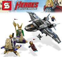 air fighter - New vengeance Alliance Super hero role Fighter air war Minifigure puzzle assembled building blocks sets children kid toy Gift SY327