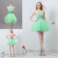 Cheap Short Green Best Homecoming Dresses