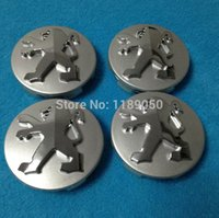 Wholesale 4Pcs Peugeot Alloy Wheel Center Caps Hubs mm Black Silver New