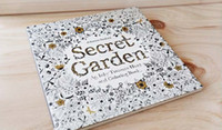 Wholesale 2015 Secret Garden An Inky Treasure Hunt and Coloring Book Adult Children Relax Graffiti Painting Book include pencil