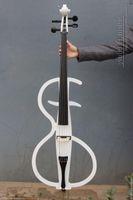 Wholesale New Electric Cello Solid wood Nice Sound Split cello white Ebony Part