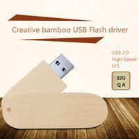 Wholesale bamboo gift USB flash driver real GB capacity Bamboo U disk Memory USB Flash Driver Pendrive Provide custom logo