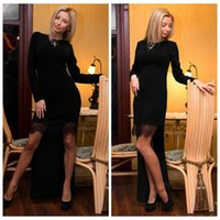 plain long sleeve - 2015 New Fashion Lady Hot Dress Sexy Style Woman and Big Girls Long Sleeve Plain Color Lace Splicing Party Dresses