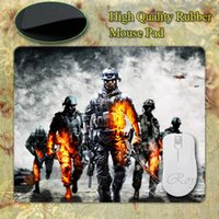bad companies - Battlefield Battlefield Battlefield Bad Company War Games Blurred Silicon Mouse Pad Mat Mice Pad for Optical