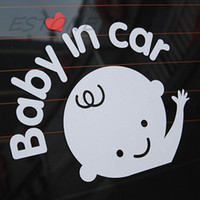 Wholesale cm Car Cartoon quot baby in car quot Stickers Baby on Board Safety Sign Cute Car Decal Vinyl Sticker