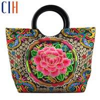 flower handbags - Charm in hands Chinese National Wind Women Handbag Embroidery Flower Tote Luxury Classical Bolsas Feminina Ladies Handbags C0255