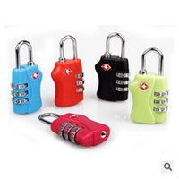 Wholesale TSA Luggage Strap Locks Digit Plastic Alloy Lock Password Customs Luggage Padlock Combination Suitcase Padlock Luggage Travel Lock m00383