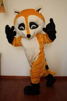 Wholesale New Professional Yellow Raccoon Raccon Fancy Dress Mascot Costume Adult Size Valentine s Day Thanksgiving Day Christmas Halloween